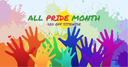 Pride Month Discount Offer Facebook AD Modelo de Design