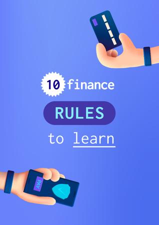 Modèle de visuel Finance Rules with Banking application - Poster