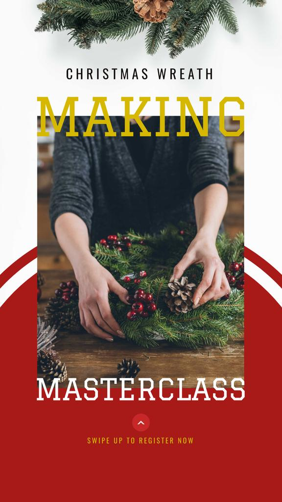 Christmas Decoration Workshop ad — ein Design erstellen