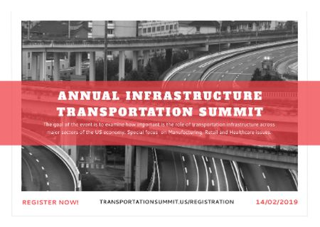 Annual infrastructure transportation summit Postcard Modelo de Design