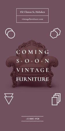 Plantilla de diseño de Antique Furniture Ad Luxury Armchair Graphic
