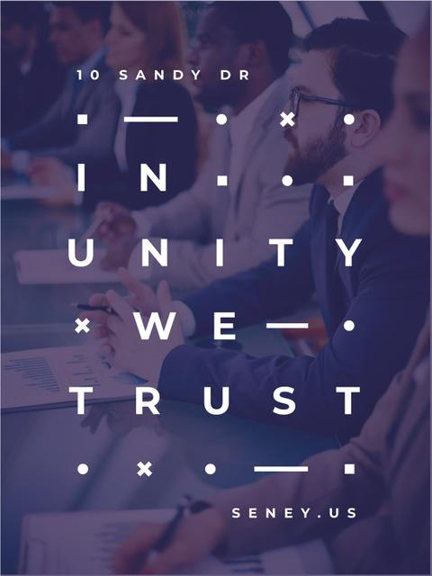 Business Team working in office Poster US – шаблон для дизайна