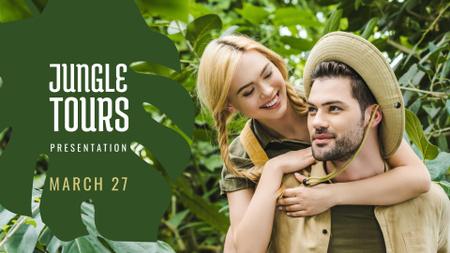 Plantilla de diseño de Travel Tour Offer couple in Jungle FB event cover