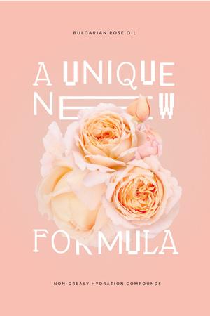Plantilla de diseño de Skincare Offer with Tender Pink Flowers Pinterest