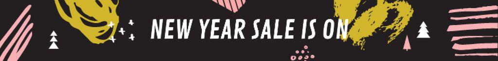 New Year Sale Ad Colorful Paint Blots — ein Design erstellen