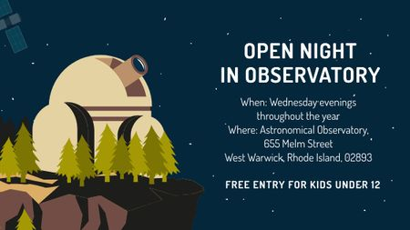 Open night event in Observatory Title – шаблон для дизайну