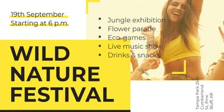 Wild nature festival Image – шаблон для дизайну