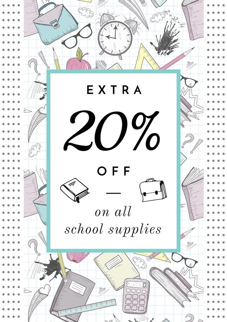 School supplies sale advertisement — Crear un diseño