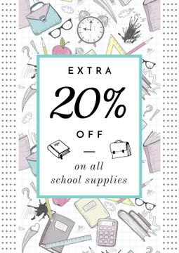School supplies sale advertisement
