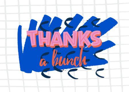 Plantilla de diseño de Cute Thankful Phrase on Bright Illustration Card