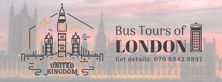 Designvorlage London famous travelling spots für Facebook Video cover