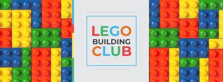 Lego Building Club Announcement Facebook cover – шаблон для дизайна