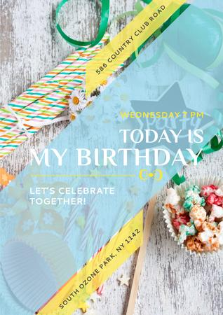 Plantilla de diseño de Birthday party in South Ozone park Poster