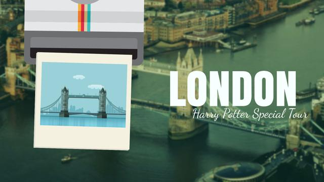 Designvorlage Tour Invitation with London Famous Travelling Spot Full Hd Video für Full HD video