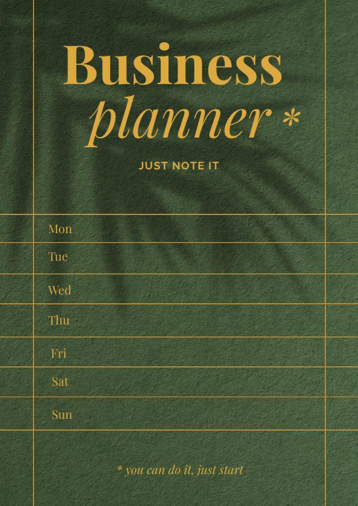Platilla de diseño Weekly Business Planner Schedule Planner