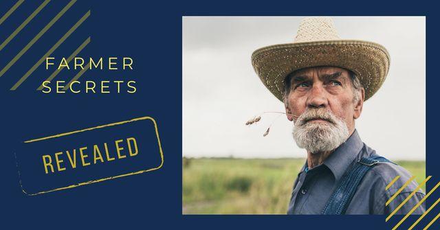 Plantilla de diseño de Farmer working in field Facebook AD