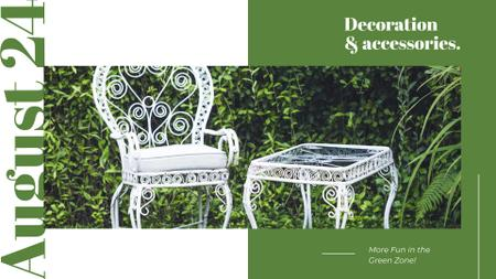 Ontwerpsjabloon van FB event cover van Elegant White garden Furniture