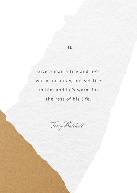Motivational Quote in pastel tones Poster Modelo de Design
