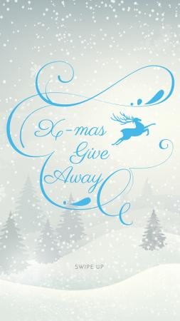 Plantilla de diseño de Christmas Special Offer with Snowy Forest Instagram Story