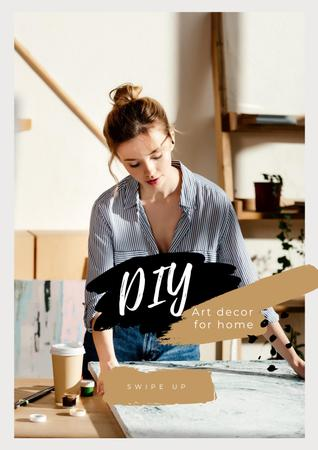 Ontwerpsjabloon van Poster van Art Decor for Home with Girl Artist
