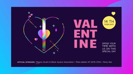Plantilla de diseño de Valentines Invitation with swirling Hearts Full HD video