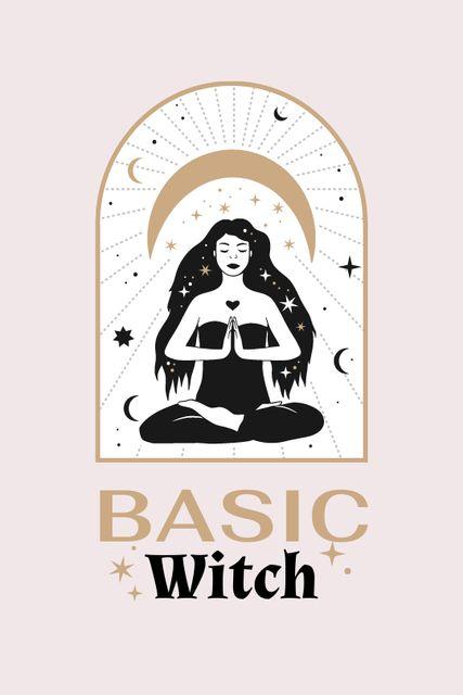 Szablon projektu Astrological Inspiration with meditating Witch Tumblr
