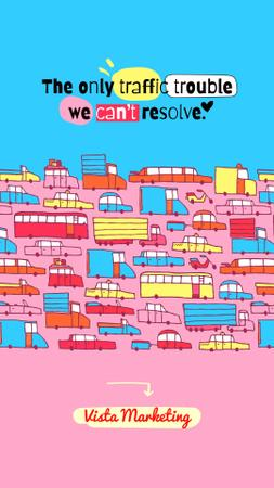 Marketing Agency Ad with Creative Illustration Instagram Story – шаблон для дизайна