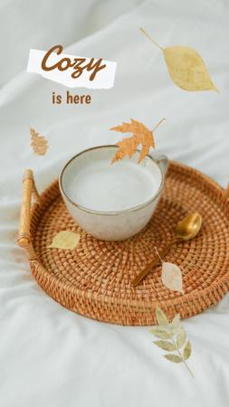Platilla de diseño Autumn Inspiration with Warm Drink in Cup Instagram Story
