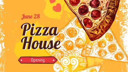 Modèle de visuel Pizzeria opening announcement - FB event cover