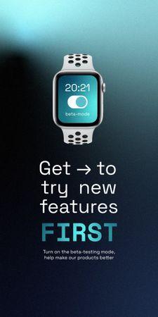 Modèle de visuel Smart Watches Startup Idea Ad - Graphic