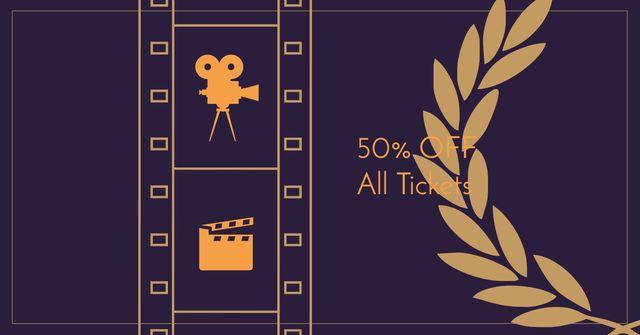 Cannes Festival Tickets Offer Facebook AD – шаблон для дизайну