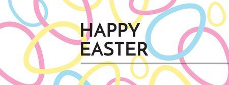 Modèle de visuel Easter Greeting with Colorful Eggs - Facebook cover