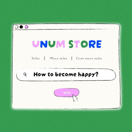 Modèle de visuel Cute Promotion of Web Store - Instagram
