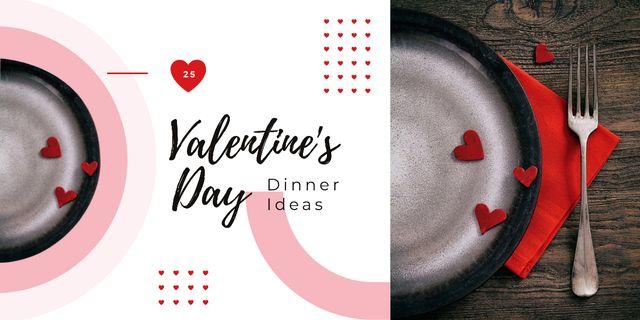 Plantilla de diseño de St. Valentine's Day festive table setting Image