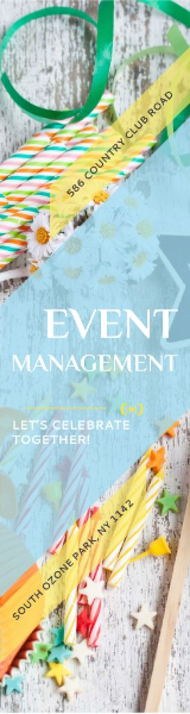 Event Management Studio Ad Bows and Ribbons —デザインを作成する