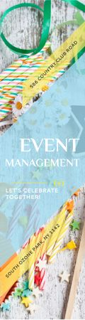 Event Management Studio Ad Bows and Ribbons Skyscraper – шаблон для дизайну