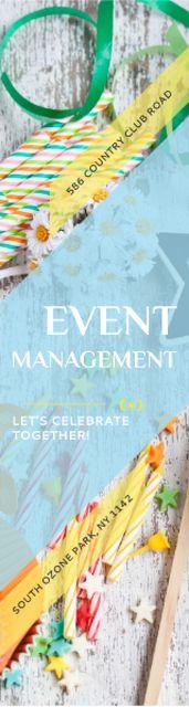 Event Management Studio Ad Bows and Ribbons Skyscraper – шаблон для дизайна