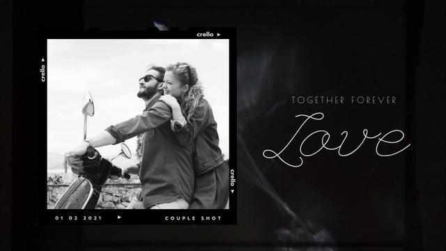 Cute Romantic Couple hugging on Motorcycle Full HD video Modelo de Design