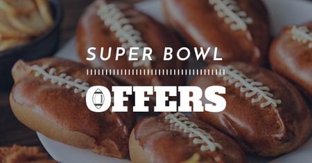 Template di design Super Bowl Offer with Sweet Buns Facebook AD