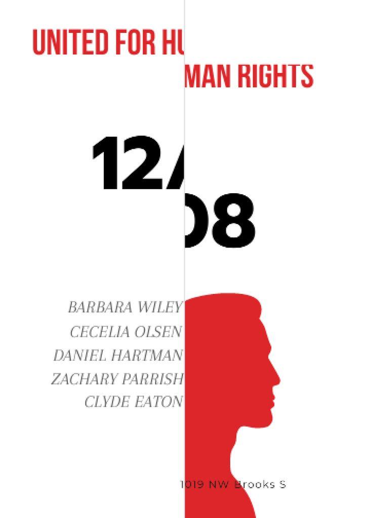 Template di design Human rights event announcement Invitation