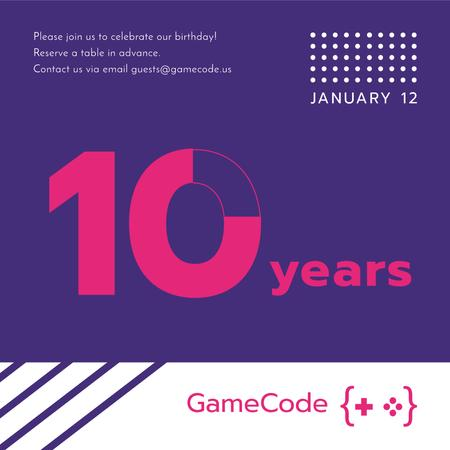 Video Games company anniversary Instagram AD Modelo de Design