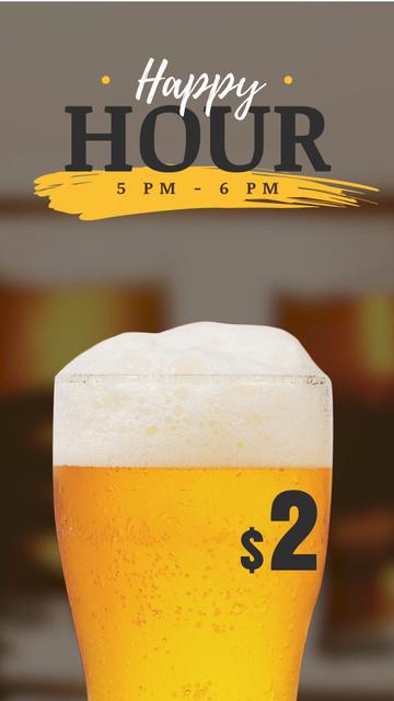 Plantilla de diseño de Brewery Invitation with Beer in Glass Instagram Video Story
