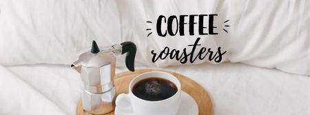 Designvorlage Weekend Morning Coffee in bed für Facebook cover