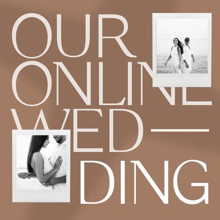 Online Wedding Announcement with Happy Romantic Couple Instagram – шаблон для дизайну