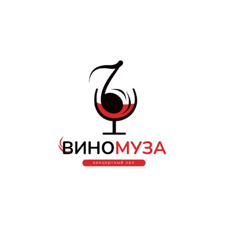 Concert Hall Ad with Note in Wineglass Animated Logo – шаблон для дизайна
