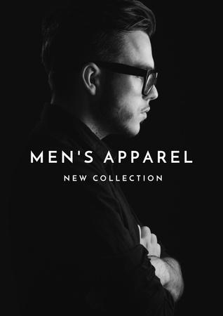 Ontwerpsjabloon van Poster van Man in stylish costume and glasses