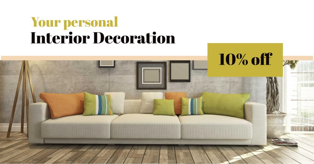 Interior decoration masterclass with Sofa in room — Crear un diseño