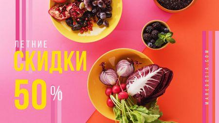 Seasonal Menu Fresh Vegetables in Bowls Title – шаблон для дизайна