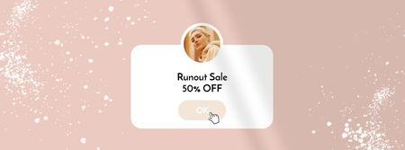 Plantilla de diseño de Sale Offer with Stylish Young Woman Facebook Video cover