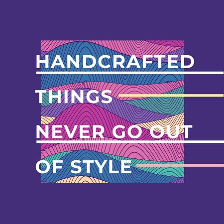 Ontwerpsjabloon van Instagram van Citation about Handcrafted things